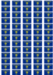 Oregon Flag Stickers - 65 per sheet